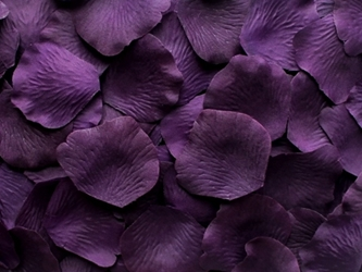 Amethyst silk rose petals, bag of 100