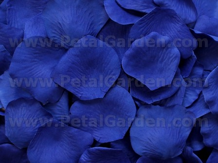 Cobalt silk rose petals, bag of 100
