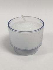 Unscented white votive