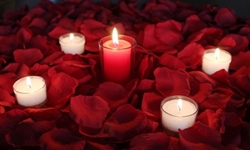 Romance package, 1000 Silk Petals, RED