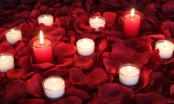 Romance package, 3000 Silk Petals, RED